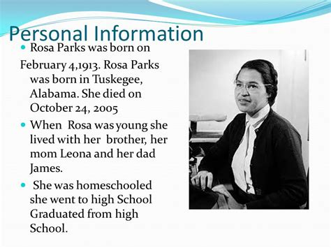 rosa parks biography for middle school biography of rosa parks ppt download