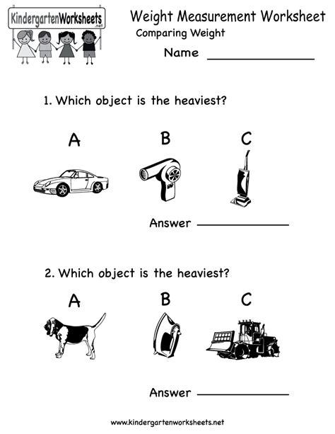 15 best images of kindergarten math worksheets measurement