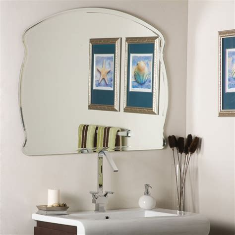 large round frameless bathroom mirror dcg stores wonder frameless mirror dcg stores