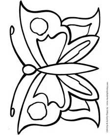 easy coloring pages free printable large butterfly easy