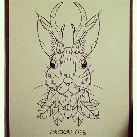 woodland tattoo designs jackalope woodland by kayleen