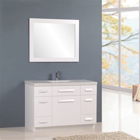 Design Element Bathroom Vanities by Design Element Moscony 48 Quot Single Sink Vanity Set White