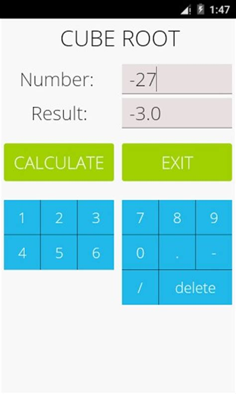 calculator root download cube root calculator for android by gk apps
