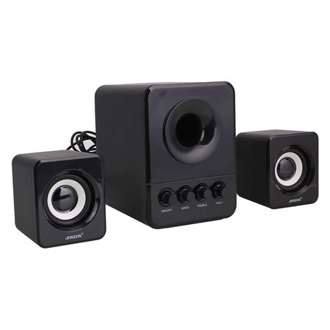 multimedia computer pc desktop laptop speakers 2 1 bass 3 5mm with subwoofer ebay