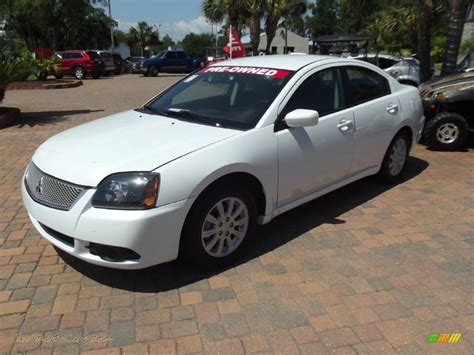 mitsubishi sports car white 2011 mitsubishi galant fe in white pearl 028604 jax