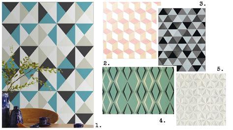 Tapisserie Geometrique by Comment J Ai Sauv 233 Mon Porte Monnaie Le Papier Peint