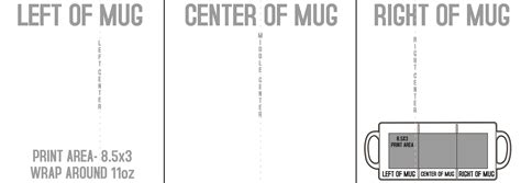 11 Oz Mug Template Size White Mug 11oz