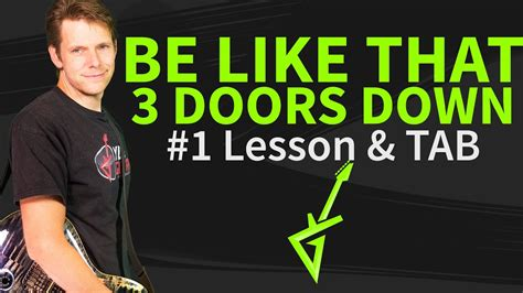 Be Like That 3 Doors how to play be like that guitar lesson tab 3 doors