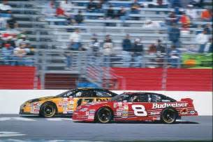 Rookie drivers matt kenseth and dale earnhardt jr drive in the 2000