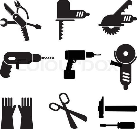 what do the symbols on cordless power tool batteries and chargers mean werkzeuge icon set vektorgrafik colourbox