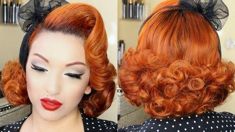 pin up hairstyles for medium length hair