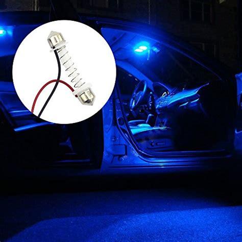 Lu Led Motor Thunder thunder 2 x 12v car led blue dome map light bulb