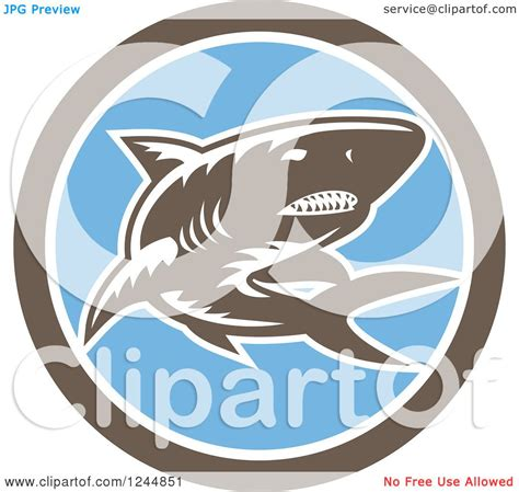 clipart of a retro woodcut clipart of a retro woodcut shark in a circle royalty