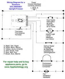 wiring diagram for a kenmore 253 28093801 upright freezer samurai appliance repair s