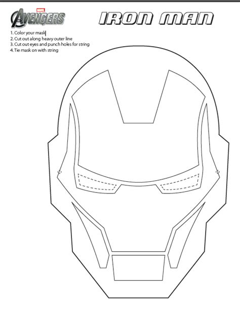 ironman mask template fashion and last minute opening costumes