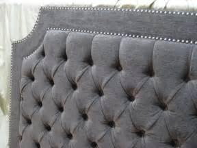 how comfortable grey tufted headboard design ideas