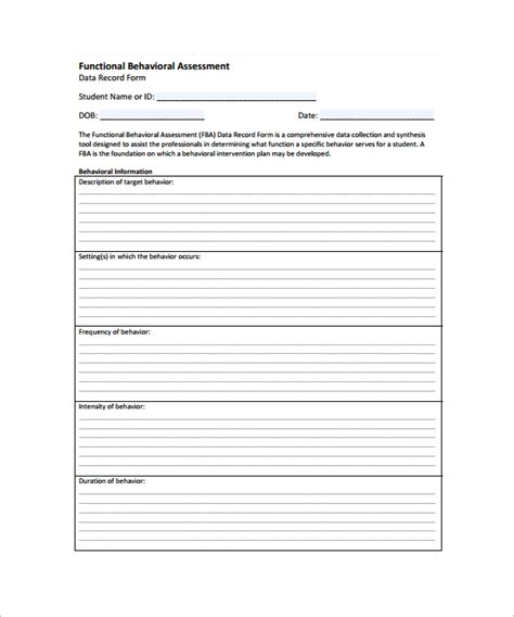career assessment template 10 download free documents