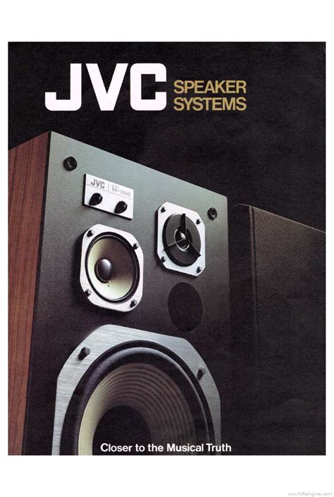 Speaker Jvc jvc speaker systems product catalogue hifi engine