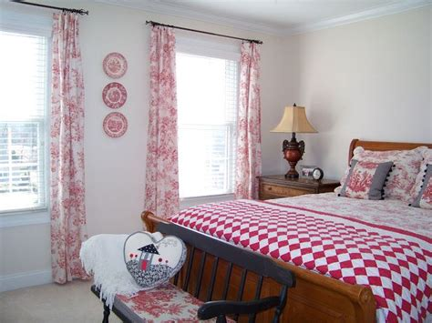 red toile bedroom red toile plates the bedroom furniture bedding quilts