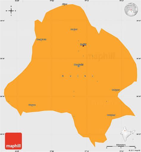 political map of delhi political simple map of delhi single color outside