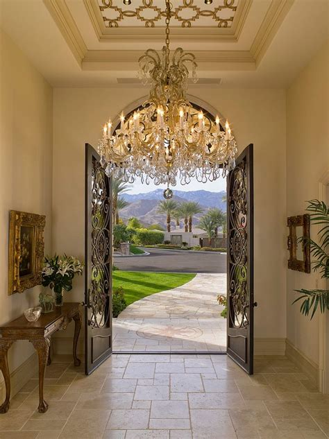 entry decor mediterranean entry ideas an air of timeless majesty
