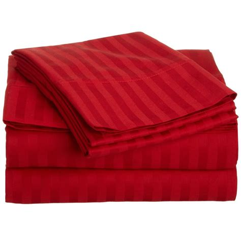 bed sheets thread count buy bed sheets with stripes 200 thread count red online