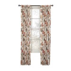 Spice Colored Curtains Decor Shop Style Selections Tombolo 84 In Spice Polyester Back Tab Single Curtain Panel At Lowes
