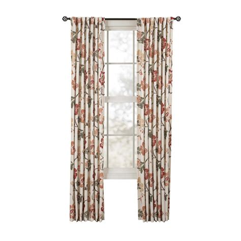 Spice Colored Curtains Decor Shop Style Selections Tombolo 84 In Spice Polyester Back Tab Light Filtering Single Curtain