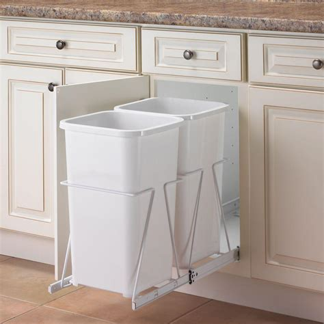 trash cans for kitchen cabinets real solutions for real 19 in h x 11 in w 23 in d steel in cabinet 27 qt pull