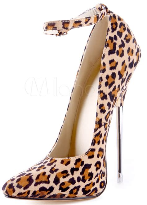 leopard high heels leopard print pumps with 6 inch metal heels for only 77