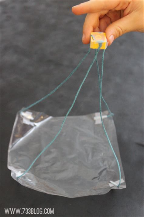 How To Make A Parachute Out Of Paper - plastic bag parachute inspiration made simple