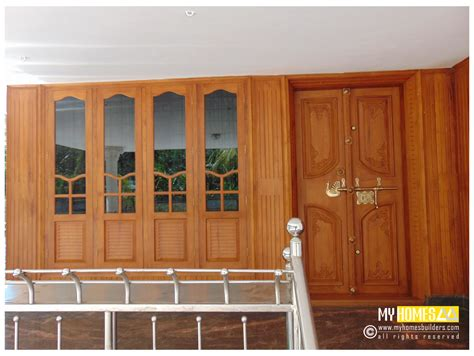 single and style door design kerala for house in india