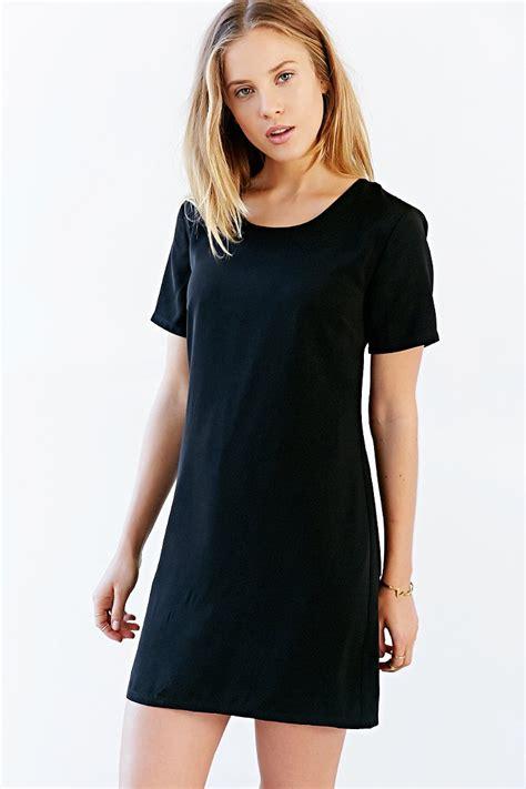A Line T Shirt Dress kimchi blue woven a line t shirt dress in black lyst