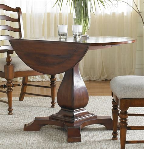 drop leaf pedestal dining table waverly place cherry drop leaf pedestal dining table