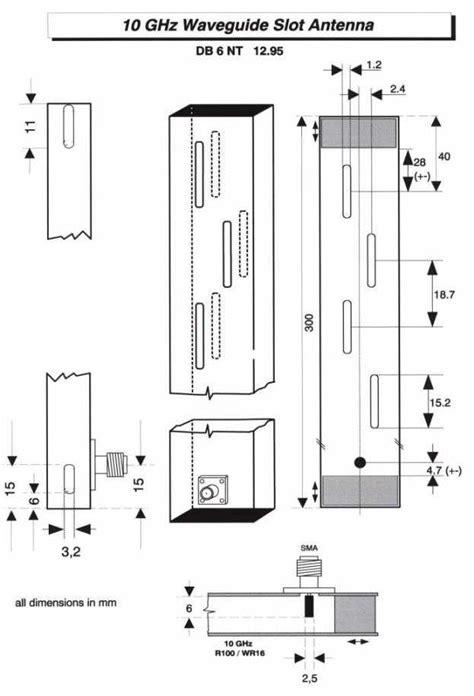 10ghz waveguide slot antenna