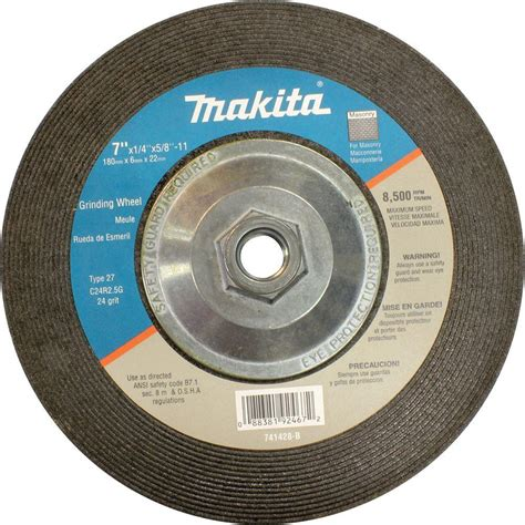 Wheel Makita 4 Inch Cutting Wheel Makita D 40706 makita 7 in x 5 8 in x 1 4 in 24 grit hubbed wheel 10 pack for use with 7 quot angle