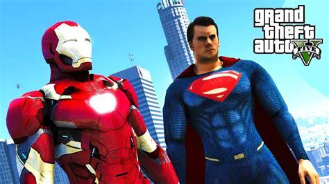Gendongan Motif Superman Ironman 9 gta v mods ironman fights superman