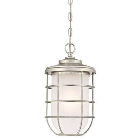 brushed nickel outdoor pendant light westinghouse ferry 1 light brushed nickel outdoor hanging