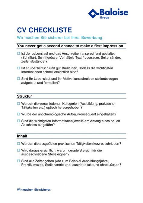 Lebenslauf Referenzen Auf Anfrage Erfolgreich Bewerben Checkliste Bewerbung Der Baloise