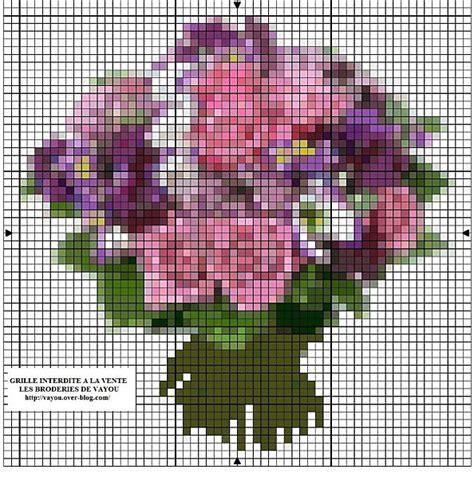 schemi punto croce fiori schema di ricamo a punto croce bouquet di fiori arte