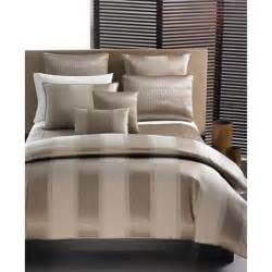 Hotel collection quot wide stripe bronze quot bedding collection thisnext