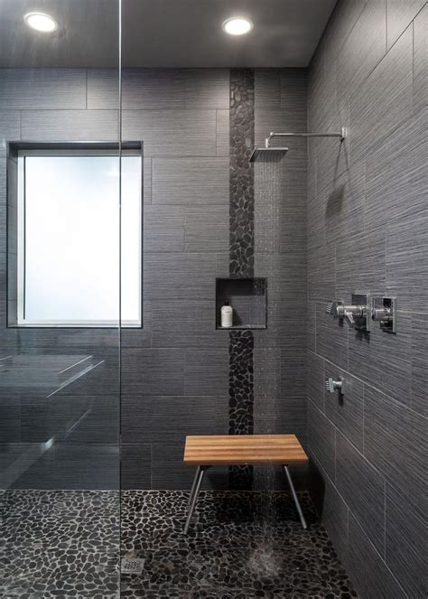 Modern Bathroom Floor Tile Best 25 Modern Shower Ideas On Pinterest Toilet Tiles Design Modern Saunas And Bench In Bathroom