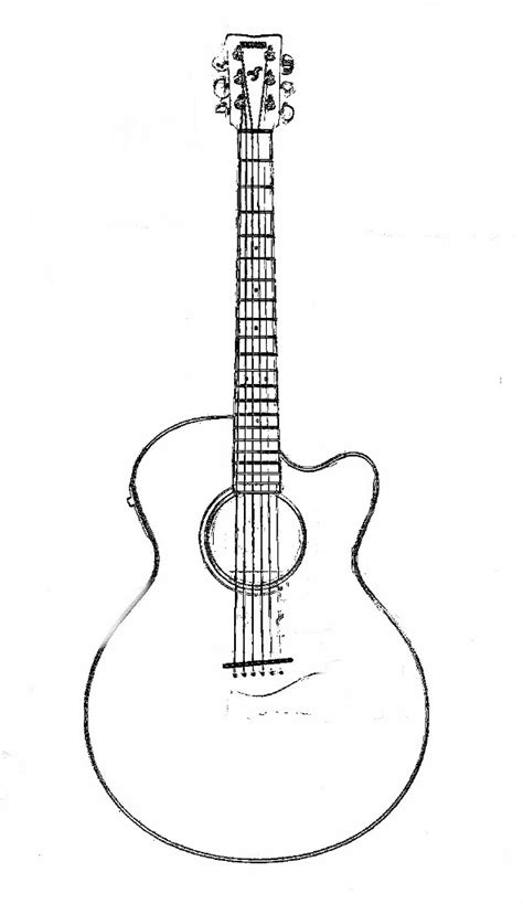 acoustic guitar coloring page acoustic guitar clip art 52