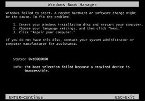 hp pcs error messages display on a black screen during