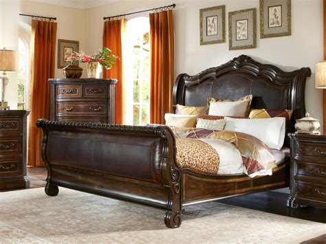 sleigh beds king size a r t furniture valencia dark oak california king size