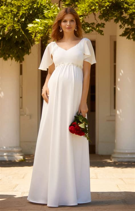 everly maternity wedding gown ivory maternity wedding