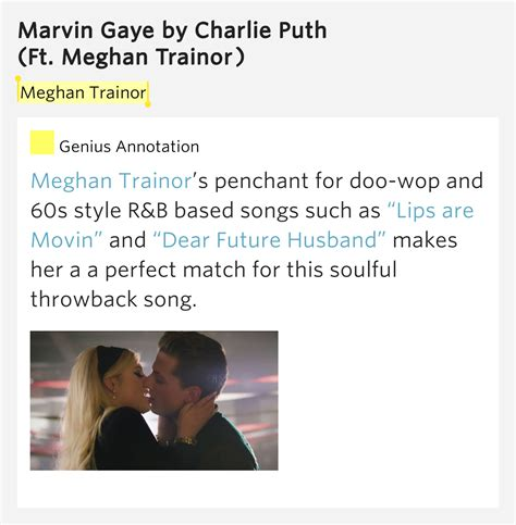 charlie puth how long meaning meghan trainor marvin gaye lyrics meaning