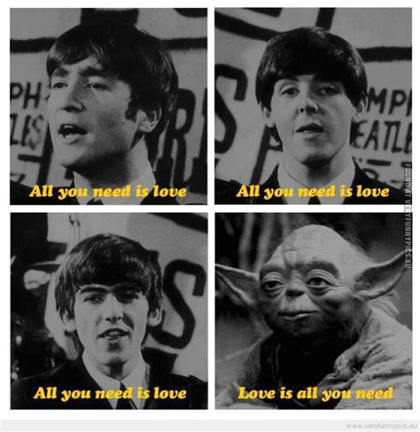 Beatles Yoda Meme - yoda and the beatles very funny pics