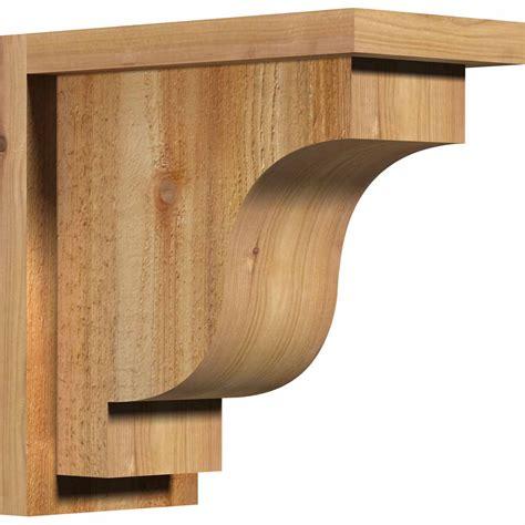 Corbel Plate by Ekena Millwork Cornew01 Newport W Backplate Rustic Timber Wo