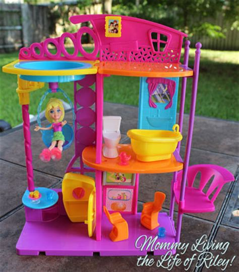 review polly pocket hangout house playset and stick n